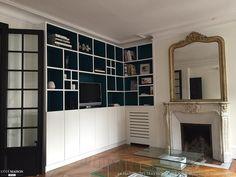 Bibliothèque et placards sur-mesure dans un appartement parisien, Paris, La Maison Des Travaux Paris Etoile-Boulogne Billancourt - artisan