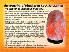 What Does A Himalayan Salt Lamp Do Best The Science Of Salt Lamps  Himalayan Salt Himalayan And Health Inspiration