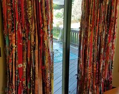 Bohemian Curtains Made to Order Gypsy Curtains Boho Curtains Rag Curtains Farmhouse Curtains Boho Door Curtains Room Divider Curtains