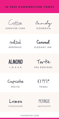Free Handwriting Fonts For Your Creative Projects Check out these 10 gorgeous handwriting fonts. They are all FREE too so enjoy.Check out these 10 gorgeous handwriting fonts. They are all FREE too so enjoy.