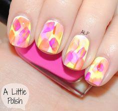 A Little Polish: Neon brushstrokes