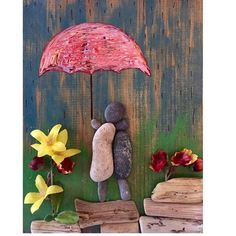 Pebble art by LeisureStiles on Etsy