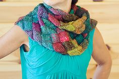 entrelac scarf Noro 275