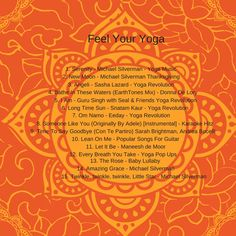 Happy Thanksgiving! This is my Feel Your Yoga Class Playlist. Enjoy! 40DaysofSocial