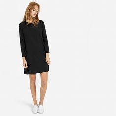 The Silk Long-Sleeve Dress - Everlane