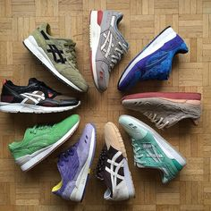 """Pick up asics from 2015  My favourite is definitely Mortar by """"Hal""""  My top 3 for the 25th anniversary  Footpatrol  Highs and lows  Hanon  Best colorway for Packer """"dirty buck""""  My favourite underrated quality pair gl5 """"medic"""" gl3 size """"iris"""" onitsuka Tiger """"woei"""" concetpts respector """"coca""""  #asicsteam #asicsaddict #asicsworld #asicsgallery #asicsgellyte #asicsgellyte3 #asicsgellyteiii #klekttakeover #therealblacklist #sadp #runnersclubuk #hichemog #tijoojit #joyaparis #sneakersmag…"""