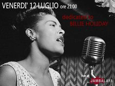 TRIBUTE TO BILLIE HOLIDAY – JAMBALAYA JAZZ LOUNGE  – MONSERRATO – FRIDAY JULY 12th
