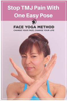 Do you grind your teeth at night? Suffer from TMJ pain? You'll be amazed by the results from this ONE simple POSE! tmj, face yoga, remedies by faceyogamethod Read Jaw Exercises Tmj, Stretches, Jaw Clenching Remedies, Tmj Massage, Tmj Headache, Jaw Pain, Neck Pain, Face Yoga Method, Facial Nerve