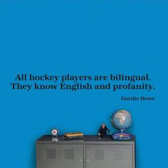 All hockey players are bilingual They know by edgelinegraphics, $15.50