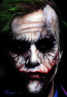 """The Joker""\The Dark Knight,\ Heath Ledger, Heath Joker, Le Joker Batman, Joker And Harley Quinn, Gotham Batman, Batman Robin, Art Du Joker, Comic Books Art, Comic Art, Art Zombie"