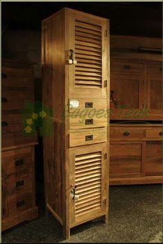 Classic bathroom cupboards made of teak wood by www.bagoestek.com perfect for bathroom