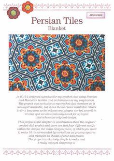 Persian Tiles Blanket crochet pattern by Jane Crowfoot