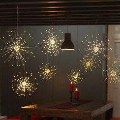 Twinkle Star 120 Led Firework String Lights Battery Operated,Hanging Starburst Light with Remote Control Starry Fairy String Lights Decor for Indoor Outdoor Christmas Party Garden, 2 Pack,Warm White Hanging Lights, Fairy Lights, Hanging Wire, Hanging Lamps, Light String, Light Led, Wall Lights, Starburst Light, Planters