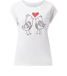White Love Birds T-Shirt