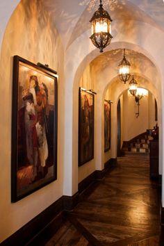 hallway, I like this look for an Outdoor corridor/walkway