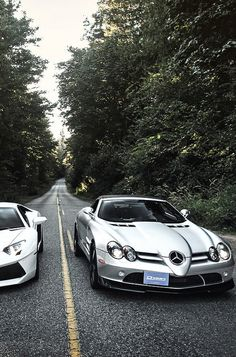 Beautiful shot of these SLR 722S #mercedes
