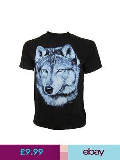 6b50374c6 T-Shirts Lone Blue Wolf Wolves Husky Huskies Sled Dog T Shirt Biker Goth  Wildlife Western