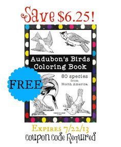 Printable bird journal notebooking pages notebooking for limited time free audobon bird coloring book save 625 coupon code required fandeluxe Images