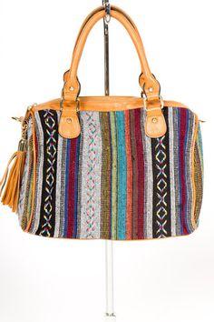 Woven Tassel Handbag