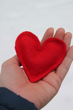 """#ValentinesDay craft: A """"love""""ly heart hand-warmer made with dried lavender --> blog.hgtvgardens...."""