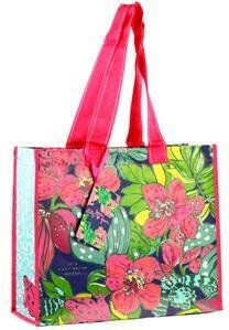 """Lilly Pulitzer Market Bag - Skip on It by Lilly Pulitzer. $10.00. Environmentally friendly signature Lilly design market tote. Laminated woven polypyrene tote measures: 17.25""""w x 7.625""""d x 14.5""""h. Vibrant bag is made of recyclable material. From Lilly Pulitzer's Fall/Winter 2012 - 2013 collection. Measures: 17.25""""w x 7.625""""d x 14.5""""h"""