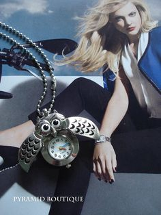 SALE30OFFSilver Owl Pocket Watch Steampunk by pyramidboutique, $3.99