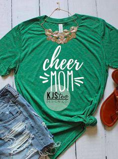 071559c84f5cdb Cheer Mom Tee - Mom Tee - Soft Women s Tee - Soft Mom Tee - Custom Mom Tee  - Mom Shirt - Cheer Shirt - Cheer Mom Shirt - Custom Cheer Tee   cheerleading  ad