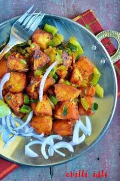 Chilli idli recipe, how to make chilli idli