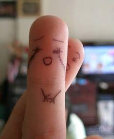 12 Cutest Finger Drawings - Oddee.com (cute drawings, finger drawings)