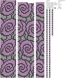 18 around tubular bead crochet rope pattern Crochet Bracelet Pattern, Crochet Beaded Bracelets, Bead Crochet Patterns, Bead Crochet Rope, Seed Bead Patterns, Peyote Patterns, Beading Patterns, Beaded Crochet, Tapestry Crochet