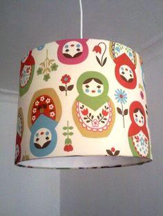 Schöne+russische+Matrjoshka+Lampenschirm+.+Ein+Schmuckstück+für+alle+Fans+russischer+Matryoshka+Püppchen.+Auch+als+Tischlampe+mit+20cm+Durchmesser+und