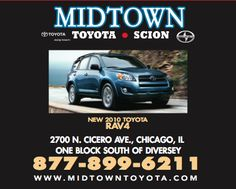 Midtown Toyota is located at 2700 N Cicero in Chicago, just one block south of Diversey. Come stop by!