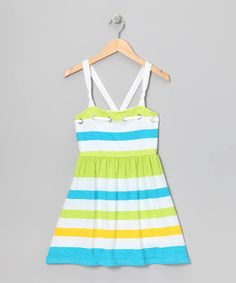 Take a look at this Blue Stripe Dress - Girls by Chillipop on #zulily today!