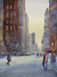 """""""Let's Paint the Town!  Urban Landscapes in Watercolor""""  workshop with Judy Mudd, April 13-15, 2015"""
