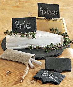 Take a look at this tag Slate Cheese Market Set by tag on #zulily today!