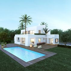 Modern Villas for sale Casas Containers, Backyard Pool Designs, House Goals, Modern House Design, Exterior Design, Future House, Luxury Homes, Building A House, Architecture Design