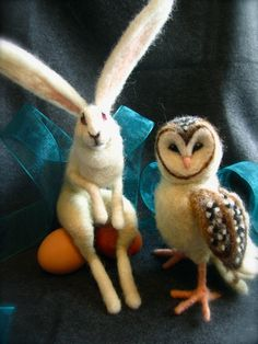 Needle Felted Owl by SilverRabbitCo on Etsy, $120.00
