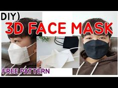 3D 마스크 패턴과 과정샷 입니다.(마스크만들기,면마스크만들기) : 네이버 블로그 Diy Mask, Diy Face Mask, Sewing Tutorials, Sewing Patterns, Sewing Projects, Decorating Flip Flops, Easy Youtube, 3d Face, Fashion Face Mask