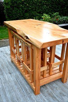 Mac-Slab Wooden Bar Leaner - FourLeaf  - 4