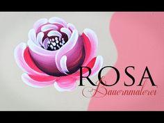 Atelier Gina Pafiadache: Rosas em Bauernmalerei