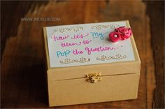 asking your bridesmaid box