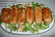 Schab z kapustą kiszoną ... inaczej Polish Recipes, New Recipes, Baked Potato, Sushi, Food And Drink, Menu, Chicken, Cooking, Ethnic Recipes