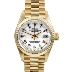Pre-owned Rolex Women's 18k Gold President Watch | Overstock.com