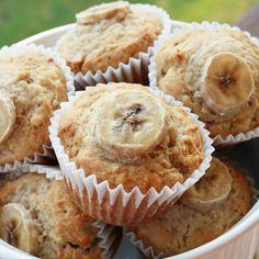 Muffin de Banana sem açúcar, lactose e glúten