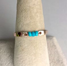 Sleeping Beauty Turquoise Ring Rose Gold by BellaAnelaJewelry