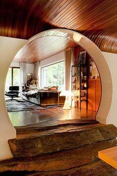 maison de hobbit, intérieur de maison de hobbit