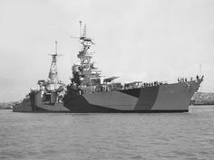USS Portland (CA 33) off the Mare Island Navy Yard, California, 30 July 1944. Her camouflage is Measure 32, Design 7d.[740x556]