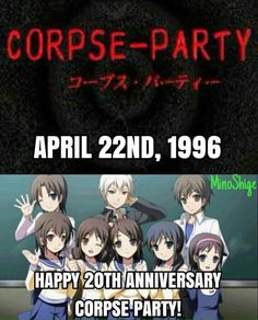 Happy anniversary Corpse Party! Corpse Party, Funny Tumblr Posts, Pewdiepie, Happy Anniversary, Video Games, Anime, Horror, Gaming, Manga