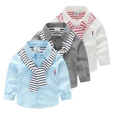 Two-Piece Striped Patch Kids Shirts - Shirts - Little TroubleMakers - TroubleMaker - Kids - Kid - toddler - products - kids products - parents