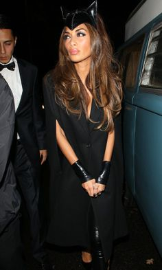 Nicole Scherzinger Hits Jonathan Ross Halloween Party As A Sexy Cat In An Ann Summers Dominatrix Playsuit, 2013
